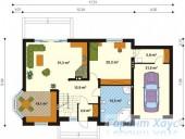 78-proekt.ru - Проект Одноквартирного Дома №125.  План Первого Этажа