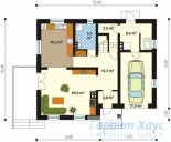 78-proekt.ru - Проект Одноквартирного Дома №212.  План Первого Этажа