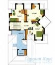 78-proekt.ru - Проект Одноквартирного Дома №192.  План Второго Этажа