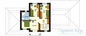 78-proekt.ru - Проект Одноквартирного Дома №162.  План Второго Этажа