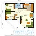 78-proekt.ru - Проект Одноквартирного Дома №282.  План Первого Этажа