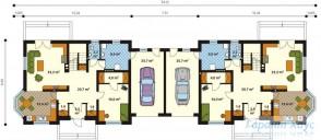 78-proekt.ru - Проект Двухквартирного Дома №24.  План Первого Этажа