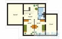 78-proekt.ru - Проект Одноквартирного Дома №331.  План Второго Этажа