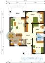 78-proekt.ru - Проект Одноквартирного Дома №312.  План Первого Этажа