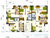 78-proekt.ru - Проект Двухквартирного Дома №14.  План Первого Этажа