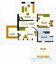 78-proekt.ru - Проект Одноквартирного Дома №98.  План Второго Этажа