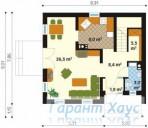 78-proekt.ru - Проект Одноквартирного Дома №118.  План Первого Этажа