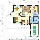 78-proekt.ru - Проект Одноквартирного Дома №42.  План Первого Этажа