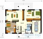 78-proekt.ru - Проект Одноквартирного Дома №205.  План Первого Этажа