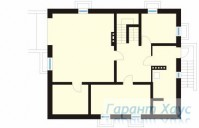 78-proekt.ru - Проект Одноквартирного Дома №187.  План Подвала