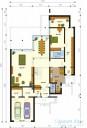 78-proekt.ru - Проект Одноквартирного Дома №112.  План Первого Этажа