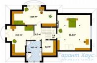 78-proekt.ru - Проект Одноквартирного Дома №38.  План Второго Этажа
