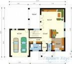 78-proekt.ru - Проект Одноквартирного Дома №3.  План Первого Этажа