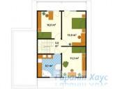 78-proekt.ru - Проект Одноквартирного Дома №64.  План Второго Этажа