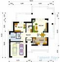 78-proekt.ru - Проект Одноквартирного Дома №22.  План Первого Этажа