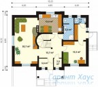 78-proekt.ru - Проект Одноквартирного Дома №154.  План Первого Этажа