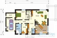 78-proekt.ru - Проект Одноквартирного Дома №220.  План Первого Этажа