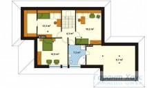 78-proekt.ru - Проект Одноквартирного Дома №13.  План Второго Этажа