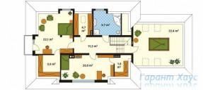 78-proekt.ru - Проект Одноквартирного Дома №322.  План Второго Этажа