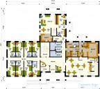 78-proekt.ru - Проект Гостиницы №1.  План Первого Этажа