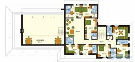 78-proekt.ru - Проект Гостиницы №3.  План Второго Этажа