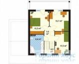 78-proekt.ru - Проект Одноквартирного Дома №303.  План Второго Этажа