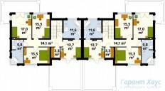 78-proekt.ru - Проект Двухквартирного Дома №11.  План Второго Этажа