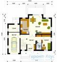 78-proekt.ru - Проект Одноквартирного Дома №174.  План Первого Этажа
