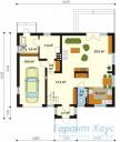 78-proekt.ru - Проект Одноквартирного Дома №48.  План Первого Этажа