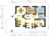 78-proekt.ru - Проект Одноквартирного Дома №41.  План Первого Этажа