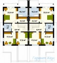 78-proekt.ru - Проект Двухквартирного Дома №12.  План Второго Этажа