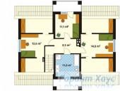 78-proekt.ru - Проект Одноквартирного Дома №2.  План Второго Этажа