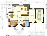 78-proekt.ru - Проект Одноквартирного Дома №226.  План Первого Этажа