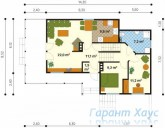 78-proekt.ru - Проект Одноквартирного Дома №158.  План Первого Этажа