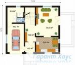 78-proekt.ru - Проект Одноквартирного Дома №233.  План Первого Этажа