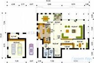 78-proekt.ru - Проект Одноквартирного Дома №30.  План Первого Этажа