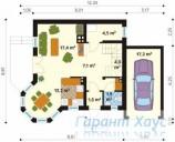 78-proekt.ru - Проект Одноквартирного Дома №145.  План Первого Этажа