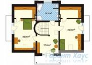 78-proekt.ru - Проект Одноквартирного Дома №154.  План Второго Этажа