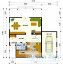78-proekt.ru - Проект Одноквартирного Дома №136.  План Первого Этажа