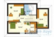 78-proekt.ru - Проект Одноквартирного Дома №73.  План Второго Этажа
