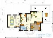 78-proekt.ru - Проект Одноквартирного Дома №6.  План Первого Этажа