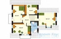 78-proekt.ru - Проект Одноквартирного Дома №59.  План Второго Этажа