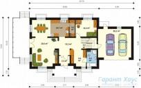 78-proekt.ru - Проект Одноквартирного Дома №325.  План Первого Этажа