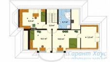78-proekt.ru - Проект Одноквартирного Дома №17.  План Второго Этажа