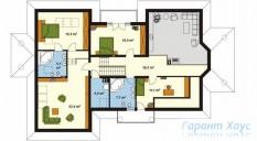 78-proekt.ru - Проект Двухквартирного Дома №27.  План Второго Этажа