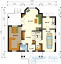 78-proekt.ru - Проект Одноквартирного Дома №115.  План Первого Этажа