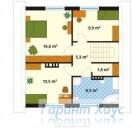 78-proekt.ru - Проект Одноквартирного Дома №140.  План Второго Этажа
