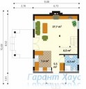 78-proekt.ru - Проект Одноквартирного Дома №11.  План Первого Этажа