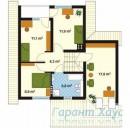 78-proekt.ru - Проект Одноквартирного Дома №267.  План Второго Этажа