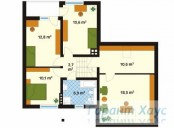 78-proekt.ru - Проект Одноквартирного Дома №269.  План Второго Этажа